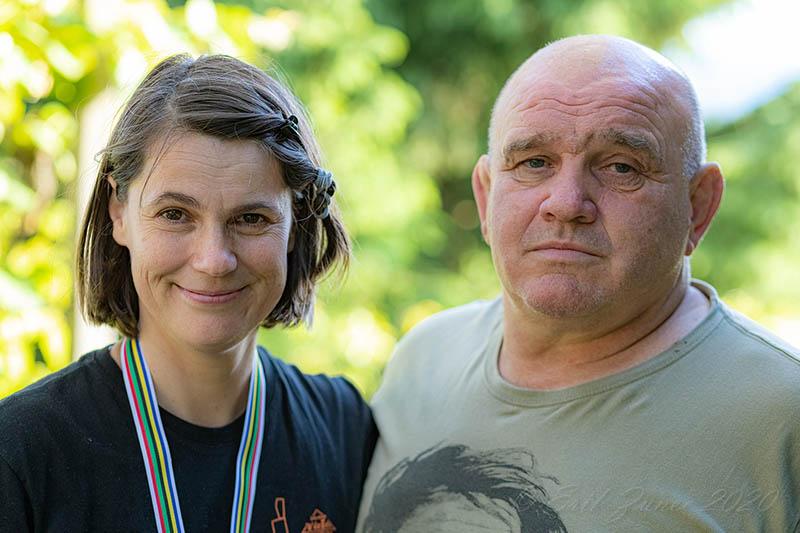 Viktorija Pečnikar Oblak in Marjan Fabjan